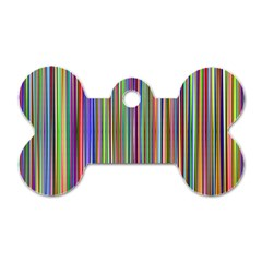 Striped Stripes Abstract Geometric Dog Tag Bone (One Side)