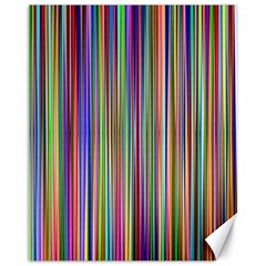 Striped Stripes Abstract Geometric Canvas 11  X 14