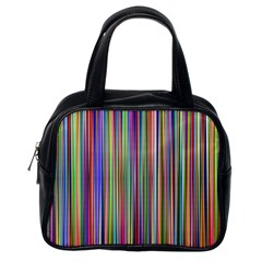 Striped Stripes Abstract Geometric Classic Handbags (One Side)