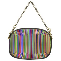 Striped Stripes Abstract Geometric Chain Purses (two Sides)