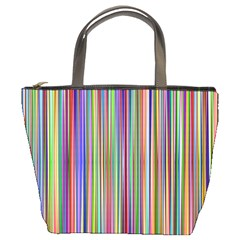 Striped Stripes Abstract Geometric Bucket Bags