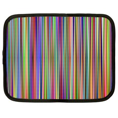 Striped Stripes Abstract Geometric Netbook Case (xl)