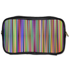 Striped Stripes Abstract Geometric Toiletries Bags 2 Side