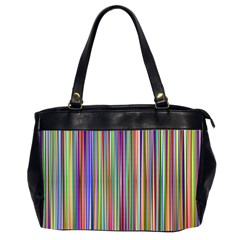 Striped Stripes Abstract Geometric Office Handbags (2 Sides)