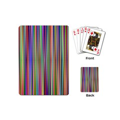 Striped Stripes Abstract Geometric Playing Cards (Mini)