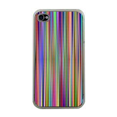 Striped Stripes Abstract Geometric Apple Iphone 4 Case (clear)