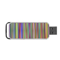Striped Stripes Abstract Geometric Portable Usb Flash (one Side)