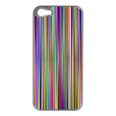 Striped Stripes Abstract Geometric Apple iPhone 5 Case (Silver)