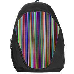 Striped Stripes Abstract Geometric Backpack Bag