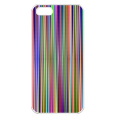Striped Stripes Abstract Geometric Apple Iphone 5 Seamless Case (white)