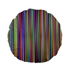 Striped Stripes Abstract Geometric Standard 15  Premium Round Cushions