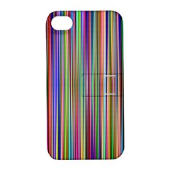 Striped Stripes Abstract Geometric Apple Iphone 4/4s Hardshell Case With Stand