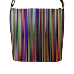 Striped Stripes Abstract Geometric Flap Messenger Bag (l)