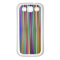 Striped Stripes Abstract Geometric Samsung Galaxy S3 Back Case (white)