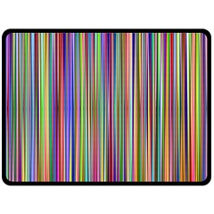 Striped Stripes Abstract Geometric Double Sided Fleece Blanket (large)