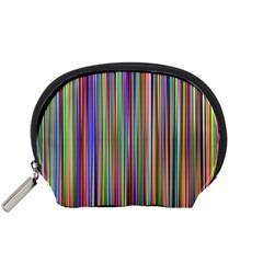 Striped Stripes Abstract Geometric Accessory Pouches (small)