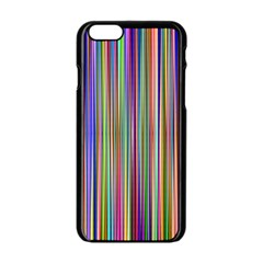 Striped Stripes Abstract Geometric Apple Iphone 6/6s Black Enamel Case