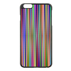 Striped Stripes Abstract Geometric Apple Iphone 6 Plus/6s Plus Black Enamel Case