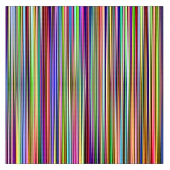 Striped Stripes Abstract Geometric Large Satin Scarf (square)
