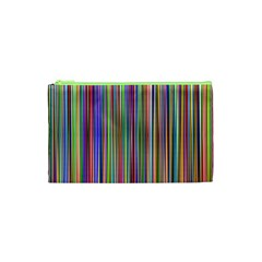 Striped Stripes Abstract Geometric Cosmetic Bag (xs)