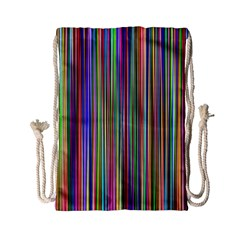 Striped Stripes Abstract Geometric Drawstring Bag (small)