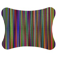 Striped Stripes Abstract Geometric Jigsaw Puzzle Photo Stand (Bow)