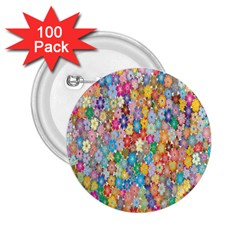 Sakura Cherry Blossom Floral 2 25  Buttons (100 Pack)