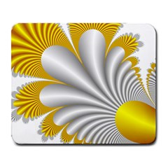 Fractal Gold Palm Tree  Large Mousepads