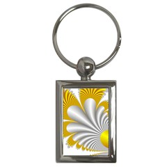Fractal Gold Palm Tree  Key Chains (rectangle)