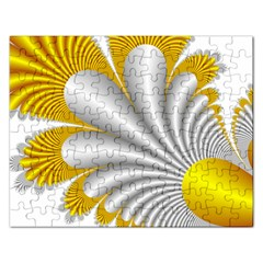 Fractal Gold Palm Tree  Rectangular Jigsaw Puzzl