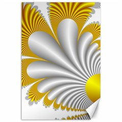 Fractal Gold Palm Tree  Canvas 24  X 36