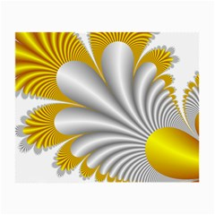 Fractal Gold Palm Tree  Small Glasses Cloth (2-Side)
