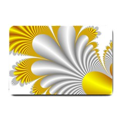 Fractal Gold Palm Tree  Small Doormat
