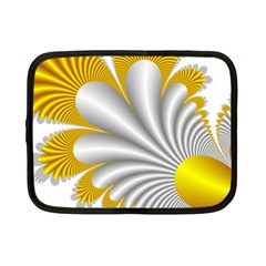 Fractal Gold Palm Tree  Netbook Case (small)