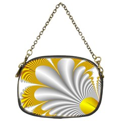 Fractal Gold Palm Tree  Chain Purses (two Sides)