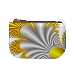 Fractal Gold Palm Tree  Mini Coin Purses