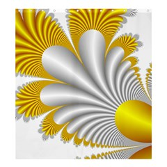 Fractal Gold Palm Tree  Shower Curtain 66  x 72  (Large)