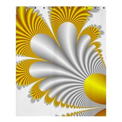Fractal Gold Palm Tree  Shower Curtain 60  x 72  (Medium)