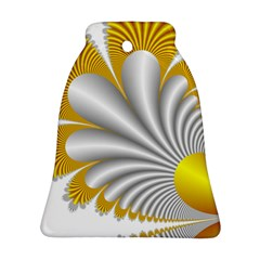 Fractal Gold Palm Tree  Bell Ornament (two Sides)