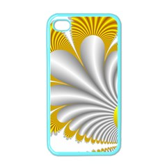 Fractal Gold Palm Tree  Apple Iphone 4 Case (color)