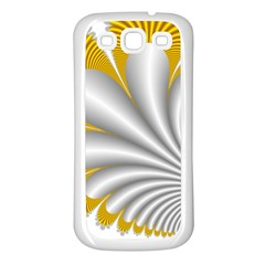 Fractal Gold Palm Tree  Samsung Galaxy S3 Back Case (white)