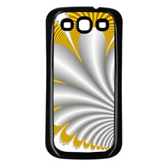 Fractal Gold Palm Tree  Samsung Galaxy S3 Back Case (Black)