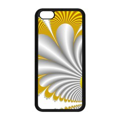 Fractal Gold Palm Tree  Apple Iphone 5c Seamless Case (black)