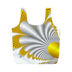 Fractal Gold Palm Tree  Full Print Recycle Bags (m)