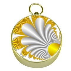Fractal Gold Palm Tree  Gold Compasses