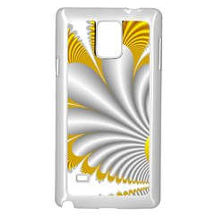 Fractal Gold Palm Tree  Samsung Galaxy Note 4 Case (white)