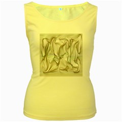 Abstract Background Chromatic Women s Yellow Tank Top