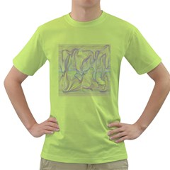 Abstract Background Chromatic Green T Shirt