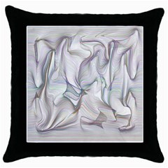 Abstract Background Chromatic Throw Pillow Case (black)