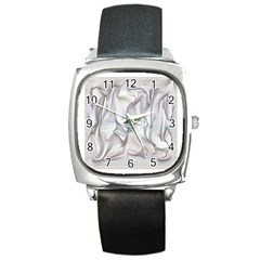 Abstract Background Chromatic Square Metal Watch